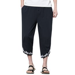 $enCountryForm.capitalKeyWord NZ - Summer Men Casual Harem Pants Jogger Pants Fitness Trousers Linen Loose
