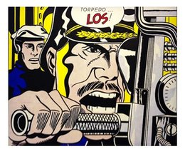 $enCountryForm.capitalKeyWord Australia - Roy Lichtenstein Torpedo...Los High Quality Handpainted &HD Print Abstract Pop Wall Art Oil Painting On Canvas Home Decor Multi Sizes R30.21