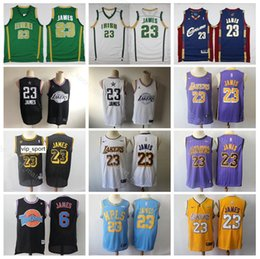 School Star online shopping - All Star LeBron James Jersey Men Los Angeles Basketball Yellow St Vincent Mary High School Irish MPLS Edition City Looney Tunes