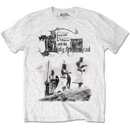 532743586 Python t shirts online shopping - Monty Python Holy Grail Mens White T Shirt  Knight Riders