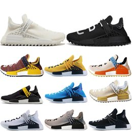 0956a8657 Good Human Race trail Running Shoes Men Women Pharrell Williams HU Runner  Yellow Black White Red Green Grey blue sport runner sneaker 36-47