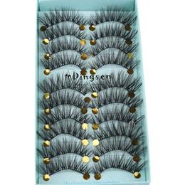 Wholesale Makeup False Eyelashes Australia - 10pairs 3d Soft Hair False Eyelashes Crisscross Wispy Black Long Lashes Eye Extension Makeup Tools 3d-71