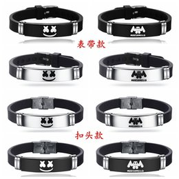 $enCountryForm.capitalKeyWord Australia - Wristband DJ Marshmello Creative Idea Bracelets Spun Sugar Electro Acoustic Stainless Black Silica Gel Adjust Bangle Hot Selling 5xm p1