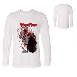 1f1e9288 Fashion Print Tshirt For Men Novelty Design Creative T Shirt Mens Tops  Hands Bloody Revenant Gamer Long sleeve T-shirts Cool Tees & Polos