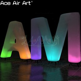 Glow Party Decorations Australia - Hot sale ground inflatable letters decoration,glowing inflatable alphabet for party,stage ,wedding or promotion on sale