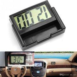 Großhandel Auto Auto Schreibtisch Armaturenbrett LCD-Bildschirm Digitaluhr Selbstklebende Halterung Kunststoff Auto Uhr Autoinnenausstattung