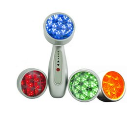 light therapy wrinkle machine UK - Handheld LED Facial Machine PDT Photon LED Light Therapy 4 Colors Red Blue Green Yellow For Skin Rejuvenation Acne Removal Anti Wrinkles