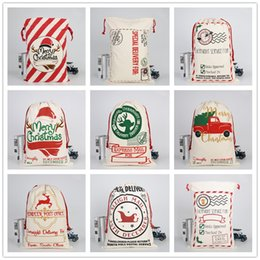 $enCountryForm.capitalKeyWord Australia - 2019 New arrival Christmas Gift Bag Elk Christmas Bag Cotton Eco-friendly Canvas Bag Santa Claus gift bags A04