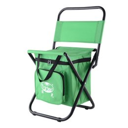 Wholesale Stools Chairs Australia - Fold Backrest Chair Multi Function Stool Camping Fishing With Ice Thermos Bag Picnic Portable Outdoors Waterproof 28ygf1