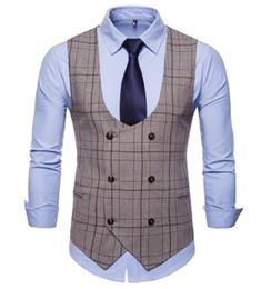 $enCountryForm.capitalKeyWord Australia - New Sale Men's Clothing Male Waistcoat Slim Fit Chaleco Hombre Gentlemen Blaser Coletes Masculino Groom Men Suit Vest