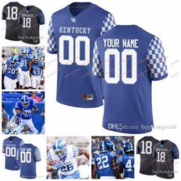 KentucKy football online shopping - Custom NCAA Kentucky Wildcats UK T Wilson Chris Oats Allen Dailey Josh Allen Benny Snell Jr College Football Jerseys Stitched