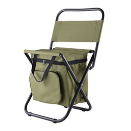 Seat beach online shopping - Fishing Chair Movable Refrigerator Keep Warm Cold Portable Folding Beach Chair about g Seat Camping kg Chairs with Pocket