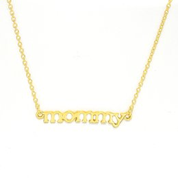 """$enCountryForm.capitalKeyWord Australia - Mommy Necklace Custom Tiny """"mommy"""" Necklace Choker Length Gold Silver Rose Gold Mother's Day Gift Maternity Pregnant Gift"""