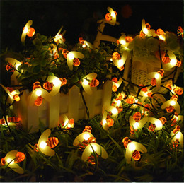 $enCountryForm.capitalKeyWord UK - 5M Solar Powered LED String Lights 20 LEDs Cute Honey Bee Shape Fairy String Lights for Outdoor Wedding Garden Yard Patio Party Night Light