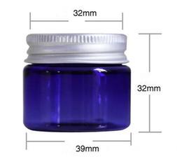 $enCountryForm.capitalKeyWord Australia - clear vape 50g 50ml plastic wax container jar blue green color with black aluminum cap cosmetic cream makeup stash storage