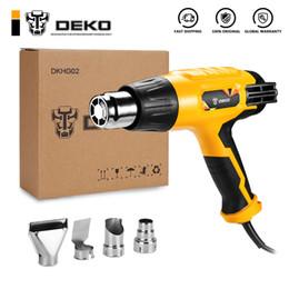 DEKO 220V Heat Gun 2000W Variable 3 temperature avanzata pistola ad aria calda con quattro accessori per elettroutensili in Offerta