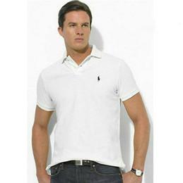 8e2d57d190edb POLO shirt en coton à double boucle Ralph Lauren Marque Design tendance  Casual Mode Avant-Garde Hommes POLO Shirt