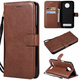 Color Leather Bags Australia - For Motorola Moto Z4 Play Case Flip Cover Wallet Stand Pure Color PU Leather Mobile Phone Bags Coque Fundas