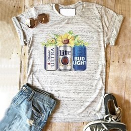 $enCountryForm.capitalKeyWord Australia - Beer cans tshirt women stamp lovely plus size graphic tees woman 90s thanksgiving top tshirts girls love