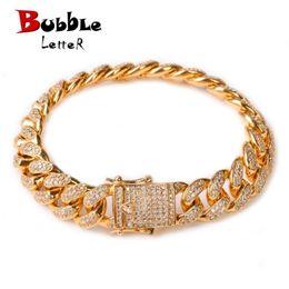"$enCountryForm.capitalKeyWord Australia - 12mm Men Zircon Curb Cuban Link Bracelet Hip Hop Jewelry Gold Silver Thick Heavy Copper Material Iced Cz Chain Bracelet 8"" J190719"