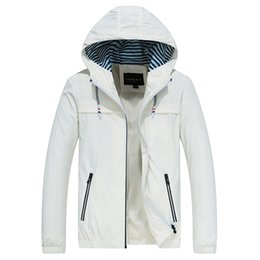 Plus Size Windbreaker Jackets Australia - Hooded Jacket Men's Casual Zipper Windbreaker Coat Men Jacket Plus Size 4XL Mens with Hood Autumn Spring 2019 New