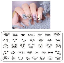 $enCountryForm.capitalKeyWord Australia - Finger Angel 1PCS 6*8 Nail Art Stamping Plates Valentine Image Cartoon Design Rectangle Letter Geometric Printing Template