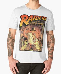 jones t shirts Australia - RAIDERS OF THE LOST ARK T SHIRT INDIANA JONES 80'S CULT FILM BIRTHDAY summer o neck tee, free shipping cheap tee