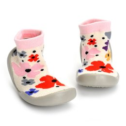 hot socks NZ - Baby Socks With Rubber Soles Anti Slip For newborns Toddler Indoor Floor Shoe Infant Floor Socks Soft Bottom Sock-Like Shoes Hot