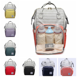 $enCountryForm.capitalKeyWord NZ - 7 colors Fashion stripe Mummy Maternity Nappy Bag Large Capacity Baby Bags Travel Backpack Desinger Nursing Bag for Baby Care diaper bag