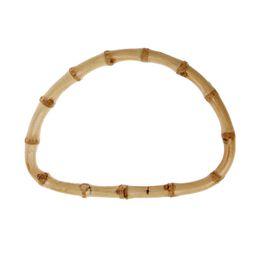 $enCountryForm.capitalKeyWord UK - 1Pc D shape Bamboo Handle for Handmade Handbag DIY Tote Purse Frame Making Bag Hanger New
