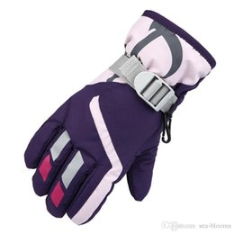 College Christmas Gifts NZ - 6 Colors Outdoor Winter Children'S Gloves Thickening Hiking Riding Ski Warm Gloves Waterproof Non-Slip Gear For Kids Christmas Gift H903R