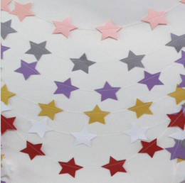 $enCountryForm.capitalKeyWord Australia - 2019 Length 4M Red purple silvery golden pink and white Five-pointed Star Paper Garland banner Photo Party Decoration