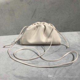 $enCountryForm.capitalKeyWord Australia - 2019 new Classic Leather Handbags classic Sheepskin single shoulder bag hand-knitted lady bag small cloud bags high quality real Women bag