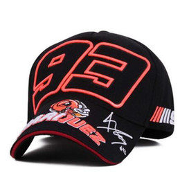 Chinese  2019 Hot Sell Cosplay Cartoon Big Ant Embroidery Marc Marquez Motorcycle Hat Sports Baseball Cap Men and Women Fashion Caps manufacturers