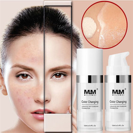 freckle concealer Canada - Color Changing Liquid Foundation Soft Matte Long Lasting Foundation Makeup Coverage Naturally Concealer Oil-Control Foundation Cream
