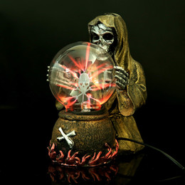 $enCountryForm.capitalKeyWord Australia - Witch & Skeleton Electrostatic Plasma Ball Sphere Light Magic Crystal And holiday Lamp for Household Office Desktop Decorations