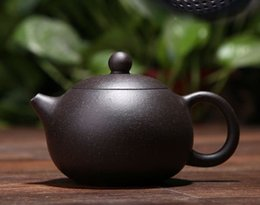 zisha teapot UK - 200ML yixing teapot chinese kung fu purple clay xi shi pot ore zisha beauty kettle suit Tie Guanyin black tea with gift box