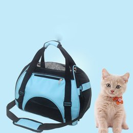 soft dog bags UK - Pet dogs Cat Shoulder bag Travel Cat Dog carrying Bag Pet Carrier Bag Soft Small Breathable Small Pet Handbag cat backpack S M L D19011201