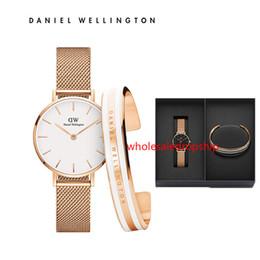 Daniel Wellington Relojes para hombre Relojes Con caja de regalo Reloj para mujer Pulsera reloj de cuarzo DW CUFF Reloj Relogio Feminino Montre Femme