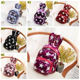 Cute Backpacks For Teenage Girls NZ - Sequins Backpack Cute Rabbit Ears Shoulders Bag for Teenage Girls School Bag Bling Rucksack Shiny Backpacks T0254