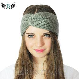 hair for twists 2019 - Winter Knitted Twist Headband For Women Girls Warmer Ear Wool Turban Hairband Headwrap Bandage Hair Accessories Haarband