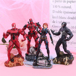 batman figure wholesale Australia - The Avengers Anime Decoration Deadpool Black Widow Batman Thor PVC Action Figures Dolls Marvel Super Hero Doll Decoration