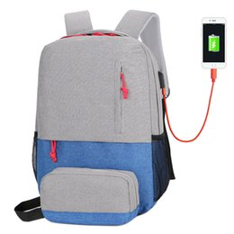 Discount travel laptop charger - Designer Backpack Iphone USB Charger Backpacks Laptop Bag For Men And Women Travel Business And School Bags