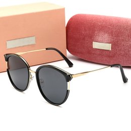 Circular Case Australia - 22010 Luxury Sunglasses Large Frame Elegant Special Designer with Diamond Frame Built-In Circular Lens Top Quality Come With Case