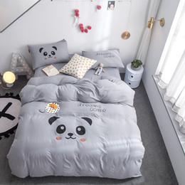 bear sheets sets 2019 - Bedding Set bear bear Kids Cute Bedspread Duvet Cover Sheet Set Bed Linens For Children Washing cotton Hot queen king Be