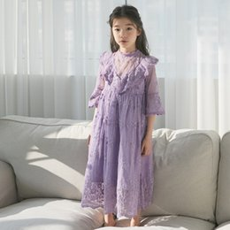 mother daughter evening dresses Australia - Kids Evening Dress New 2019 Summer Clothes Children Clothing Princess Dress Girls Lace Party Mother Daughter