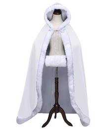 Discount floor length fur coats - 2019 Warm Bridal Cape Winter Fur Women Jacket Bridal Christmas Floor Length Cloaks Long Party Wedding Coat QC1317