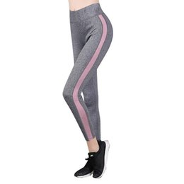 White Brown Yoga Pants UK - Women's Yoga clothing sports fitness pants new fashion running pants net red breathable high waist nine points yoga pants beginners