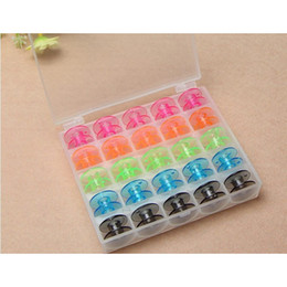 janome sewing machine Australia - Colorful 25 Grid Clear Storage Case Box With 25Pcs Empty Colorful Bobbins Spool for Brother Janome Singer Elna Sewing Machine