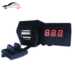 waterproof motorcycle usb power socket Australia - Freeshipping Waterproof 12V Motorcycle ATV Scooter with LED Digital Display Voltmeter Voltage Dual USB Power Socket Charger Power Switch